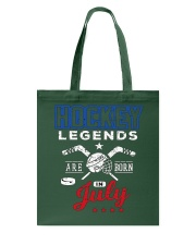 Hockey Legends Are Born In July Birthday Gift T-sh Tote Bag thumbnail