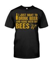 Beekeeper T-Shirt Beekeeping Shirt Drink Beer Classic T-Shirt front