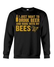 Beekeeper T-Shirt Beekeeping Shirt Drink Beer Crewneck Sweatshirt thumbnail