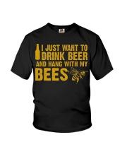 Beekeeper T-Shirt Beekeeping Shirt Drink Beer Youth T-Shirt thumbnail