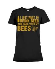 Beekeeper T-Shirt Beekeeping Shirt Drink Beer Premium Fit Ladies Tee thumbnail