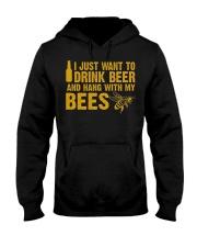 Beekeeper T-Shirt Beekeeping Shirt Drink Beer Hooded Sweatshirt thumbnail