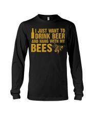 Beekeeper T-Shirt Beekeeping Shirt Drink Beer Long Sleeve Tee thumbnail