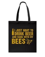 Beekeeper T-Shirt Beekeeping Shirt Drink Beer Tote Bag thumbnail