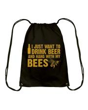 Beekeeper T-Shirt Beekeeping Shirt Drink Beer Drawstring Bag thumbnail