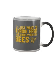 Beekeeper T-Shirt Beekeeping Shirt Drink Beer Color Changing Mug thumbnail