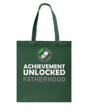Mens First Time Dad Achievement Unlocked Fatherho Tote Bag thumbnail