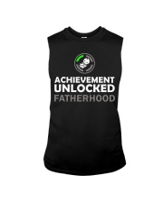 Mens First Time Dad Achievement Unlocked Fatherho Sleeveless Tee thumbnail