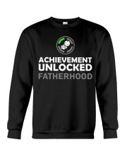 Mens First Time Dad Achievement Unlocked Fatherho Crewneck Sweatshirt thumbnail