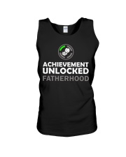 Mens First Time Dad Achievement Unlocked Fatherho Unisex Tank thumbnail