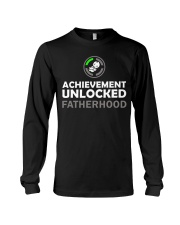 Mens First Time Dad Achievement Unlocked Fatherho Long Sleeve Tee thumbnail