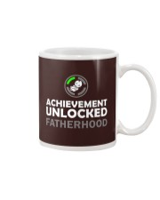 Mens First Time Dad Achievement Unlocked Fatherho Mug tile