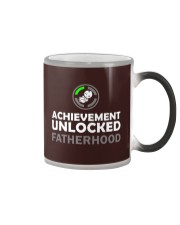 Mens First Time Dad Achievement Unlocked Fatherho Color Changing Mug thumbnail