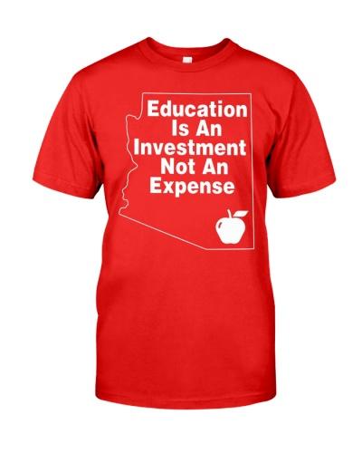 Red for Ed Arizona T-Shirt AZ Teacher Support Tee