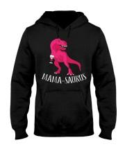 Womens Mama-saurus T-Shirt for Moms Pink Dinosaur Hooded Sweatshirt thumbnail