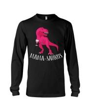Womens Mama-saurus T-Shirt for Moms Pink Dinosaur Long Sleeve Tee thumbnail