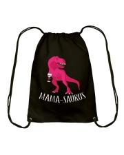 Womens Mama-saurus T-Shirt for Moms Pink Dinosaur Drawstring Bag thumbnail