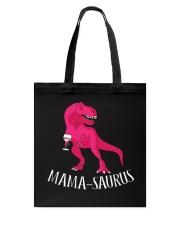 Womens Mama-saurus T-Shirt for Moms Pink Dinosaur Tote Bag thumbnail