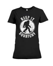 Bigfoot T-shirt Bigfoot Saw Me But Nobody Believes Premium Fit Ladies Tee thumbnail