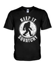 Bigfoot T-shirt Bigfoot Saw Me But Nobody Believes V-Neck T-Shirt thumbnail