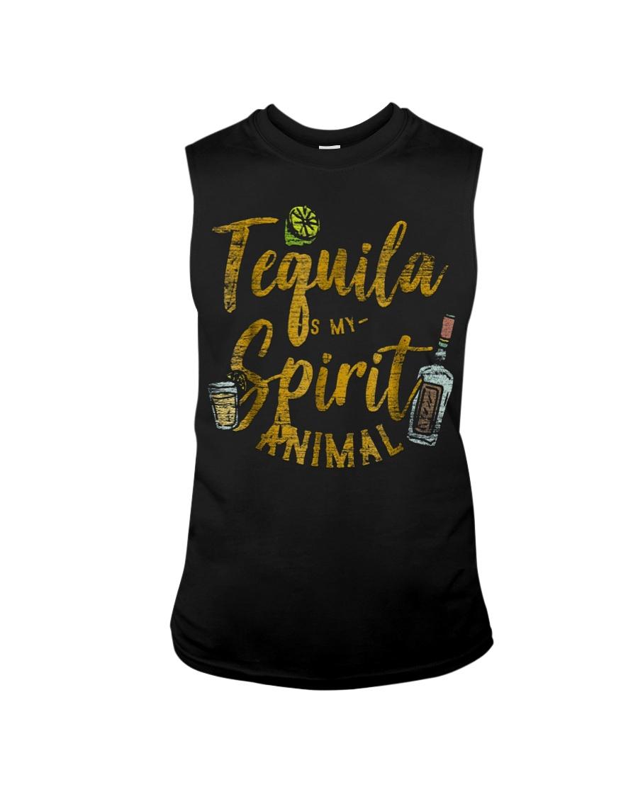 Tequila Is My Spirit Animal Cinco De Mayo Men  Sleeveless Tee