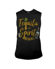 Tequila Is My Spirit Animal Cinco De Mayo Men  Sleeveless Tee front