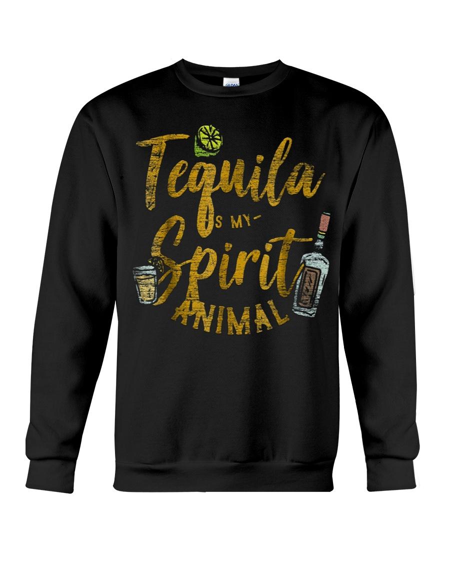 Tequila Is My Spirit Animal Cinco De Mayo Men  Crewneck Sweatshirt