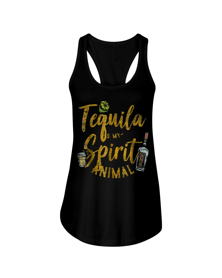 Tequila Is My Spirit Animal Cinco De Mayo Men  Ladies Flowy Tank