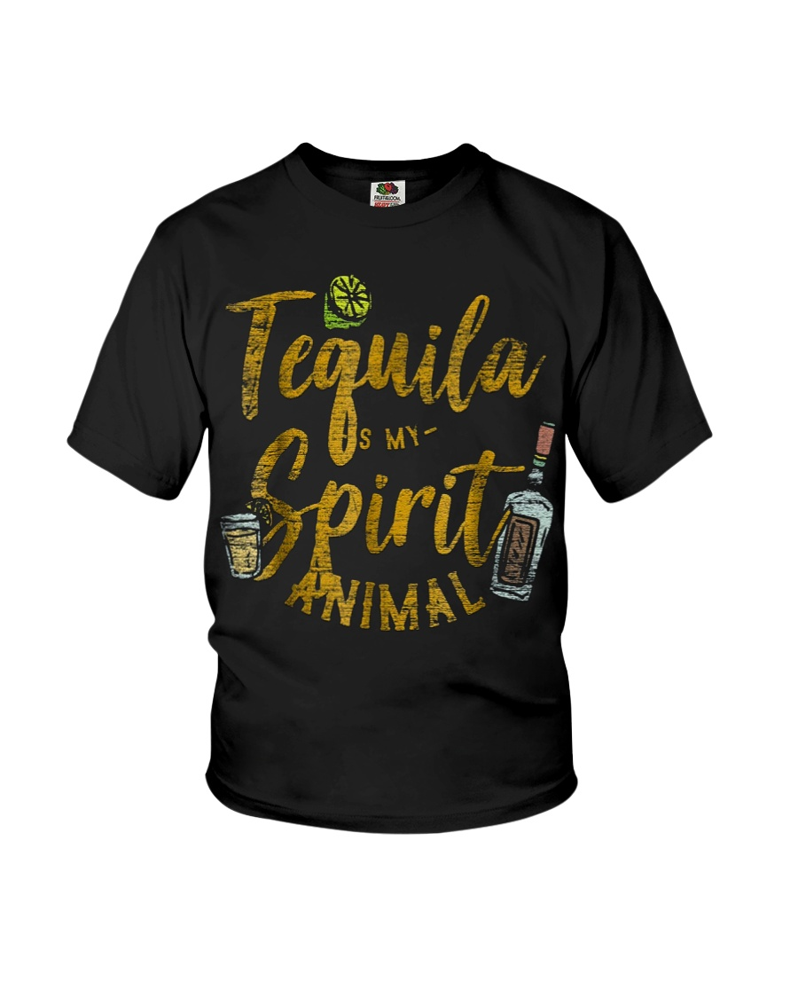 Tequila Is My Spirit Animal Cinco De Mayo Men  Youth T-Shirt