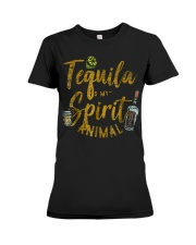 Tequila Is My Spirit Animal Cinco De Mayo Men  Premium Fit Ladies Tee tile