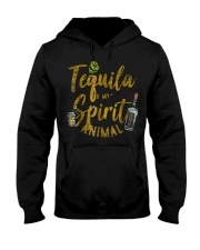 Tequila Is My Spirit Animal Cinco De Mayo Men  Hooded Sweatshirt tile