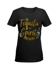 Tequila Is My Spirit Animal Cinco De Mayo Men  Ladies T-Shirt women-premium-crewneck-shirt-front
