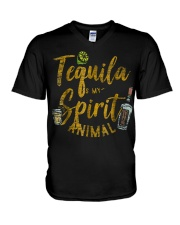 Tequila Is My Spirit Animal Cinco De Mayo Men  V-Neck T-Shirt thumbnail