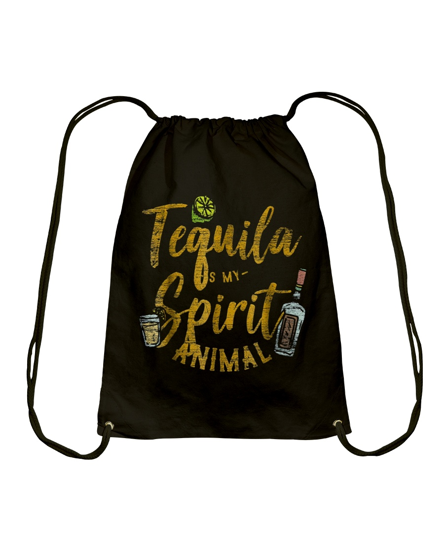 Tequila Is My Spirit Animal Cinco De Mayo Men  Drawstring Bag