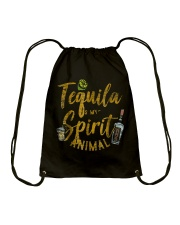 Tequila Is My Spirit Animal Cinco De Mayo Men  Drawstring Bag thumbnail