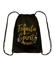 Tequila Is My Spirit Animal Cinco De Mayo Men  Drawstring Bag front