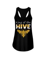 Beekeeping King of The Hive Tshirt Beekeeper  Ladies Flowy Tank thumbnail