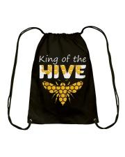 Beekeeping King of The Hive Tshirt Beekeeper  Drawstring Bag thumbnail