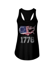 Betsy Ross Flag Symbolism American Victory 1776  Ladies Flowy Tank thumbnail