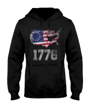 Betsy Ross Flag Symbolism American Victory 1776  Hooded Sweatshirt tile