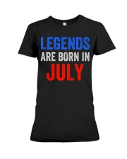 Legends are born in July T-Shirt Premium Fit Ladies Tee thumbnail