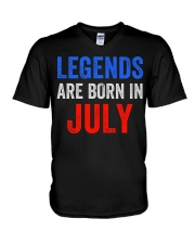 Legends are born in July T-Shirt V-Neck T-Shirt thumbnail