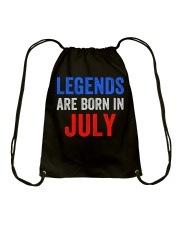 Legends are born in July T-Shirt Drawstring Bag thumbnail