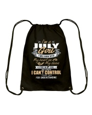 I'm A July Girl T-Shirt Funny July Birthday Gifts Drawstring Bag front