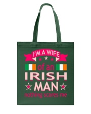 Wife Of Irish Man Nothing Scares Me Valentine Tees Tote Bag thumbnail