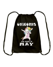 Cute Unicorns Are Born In May Novelty Gift T-Shirt Drawstring Bag thumbnail