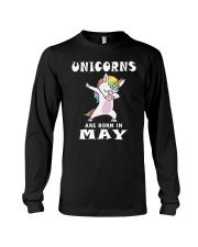 Cute Unicorns Are Born In May Novelty Gift T-Shirt Long Sleeve Tee thumbnail