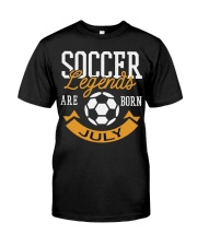 Soccer Legends Are Born In July Birthday Gift T-sh Premium Fit Mens Tee thumbnail