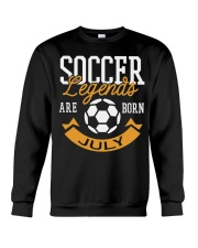 Soccer Legends Are Born In July Birthday Gift T-sh Crewneck Sweatshirt thumbnail