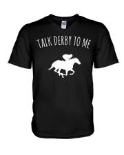 Talk Derby To Me Horse Racing T-Shirt V-Neck T-Shirt thumbnail